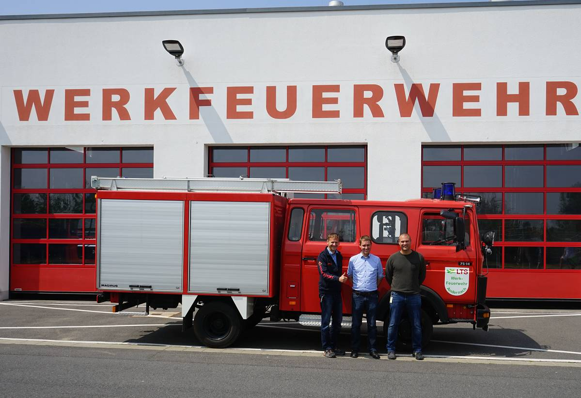 LTS donates fire-truck to Zichow fire brigade